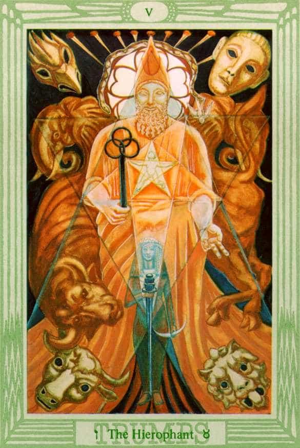 Tarocco dello Ierofante di Aleister Crowley