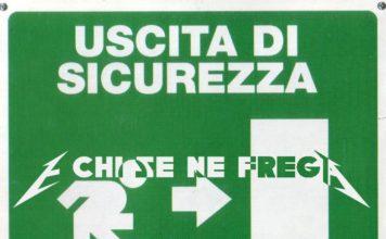 Copertina dell'album Uscita Di Sicurezza di Marco Masini con in sovrimpressione E Chi Se Ne Frega
